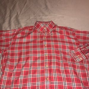 Red Burberry shirt